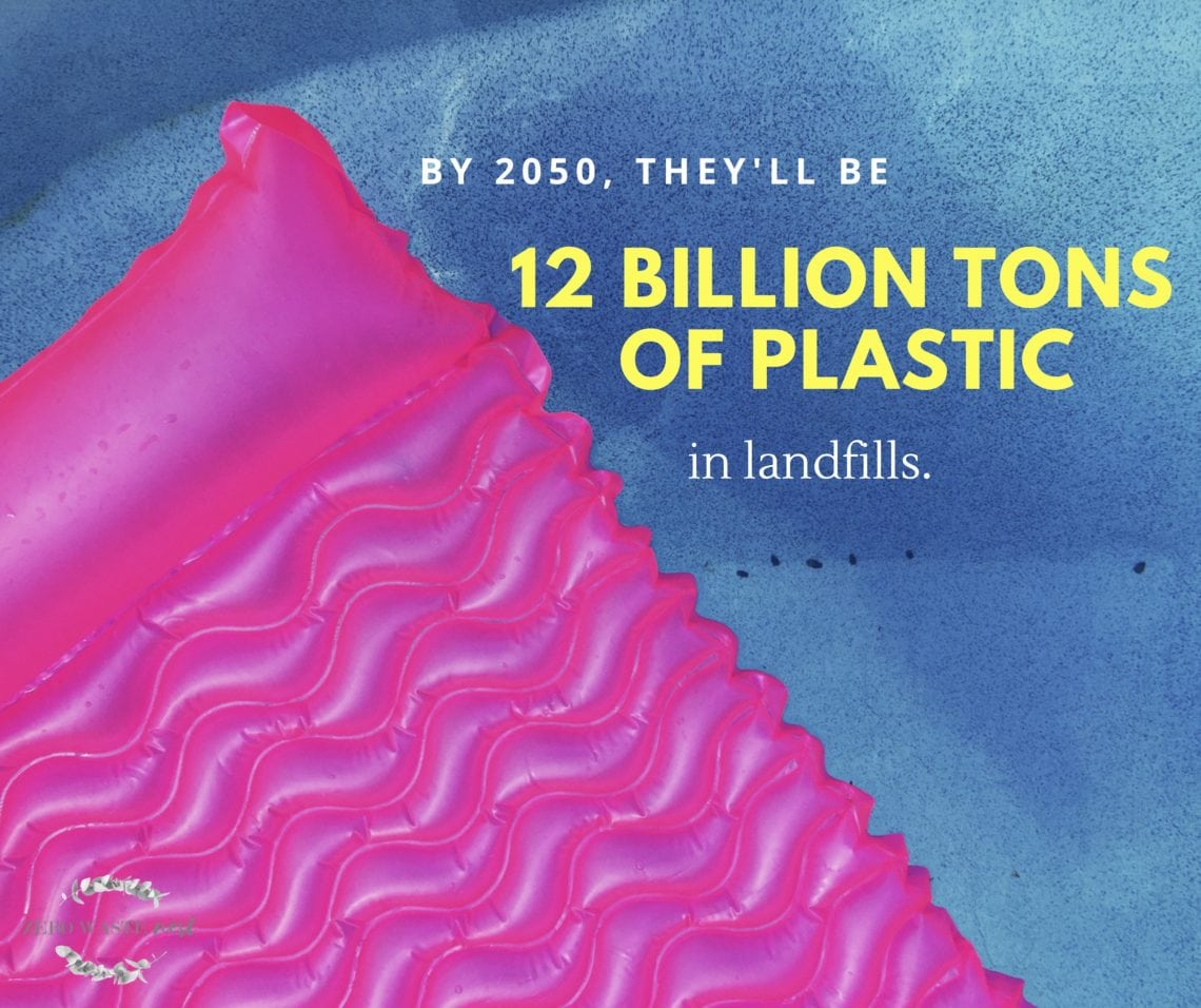 By 2050, they'll be 12 billion tons of plastic in landfills.