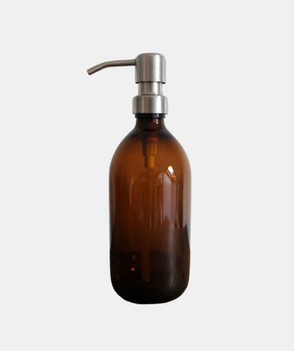 Amber glass dispenser