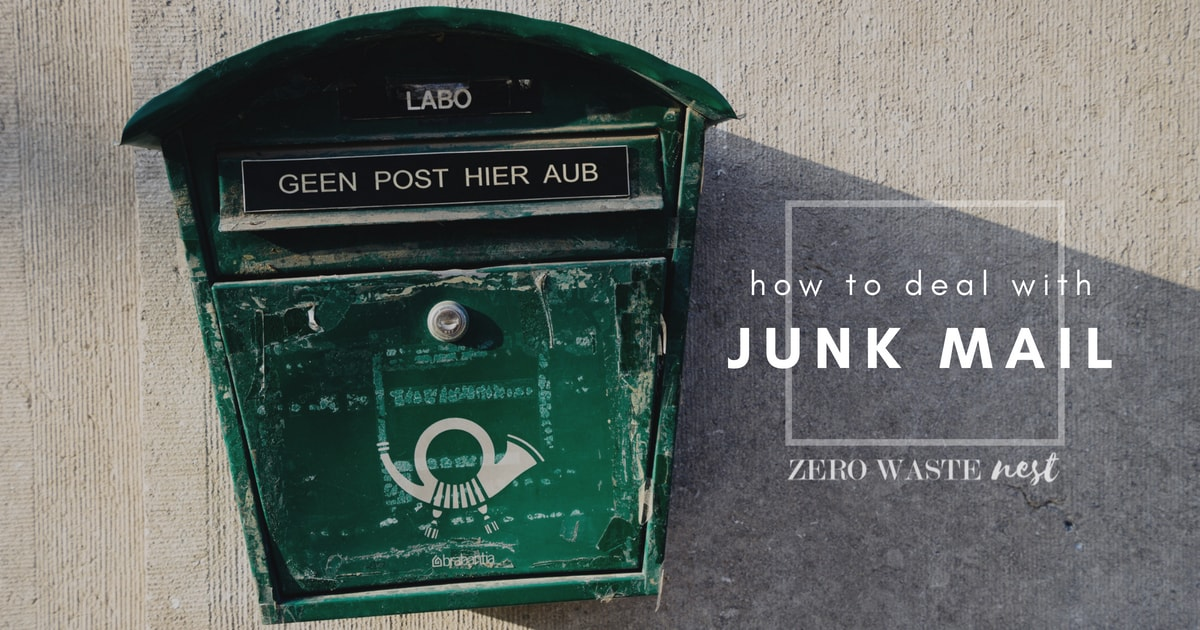 How to deal with junk mail - Zero Waste Nest