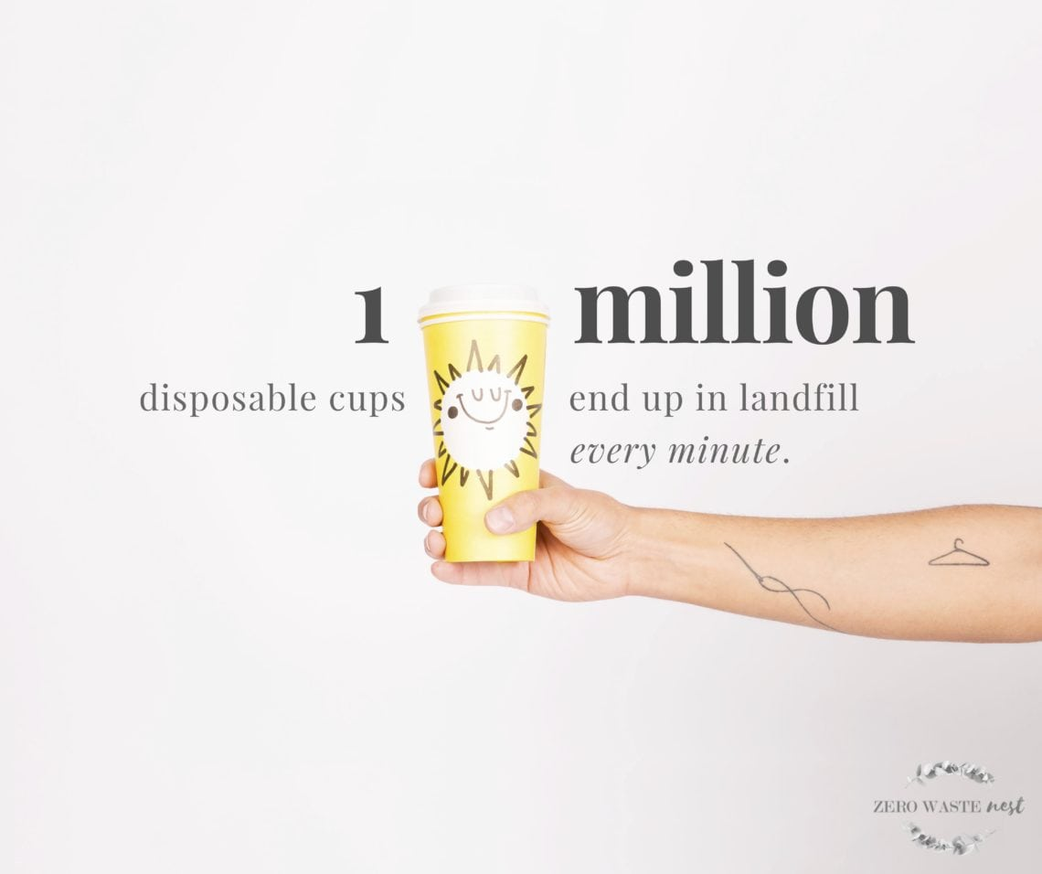 1 million disposable cups end up in landfill every minute.