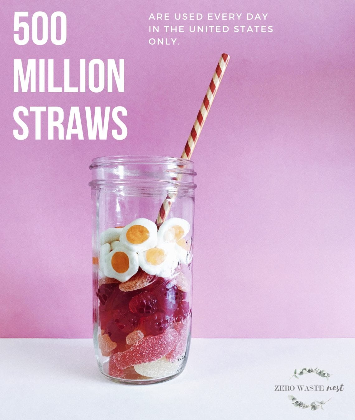 500 million straws are used every day in the united states only.
